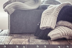 knitted warm sweaters