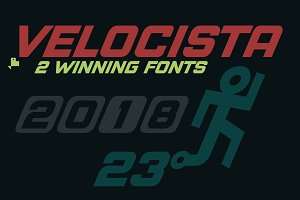 Velocista Display -2 fonts-