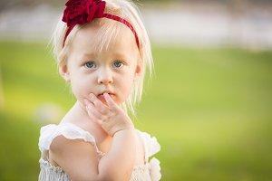 Adorable Innocent Toddler Girl