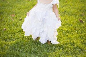 Adorable Little Girl Wearing White D