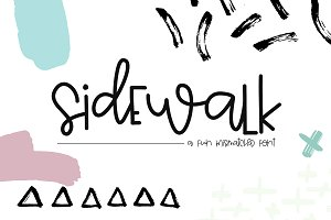 Sidewalk - A Fun Mismatched Font