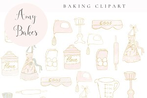 Amy Bakes - Baking Clipart