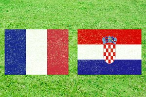 France vs Croatia Soccer Match with