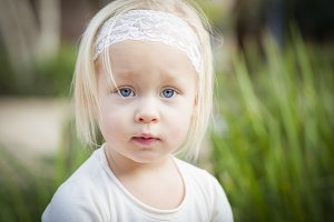 Adorable Little Girl Portrait Outsid