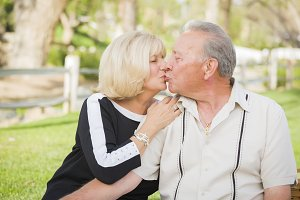 Affectionate Senior Couple Portrait