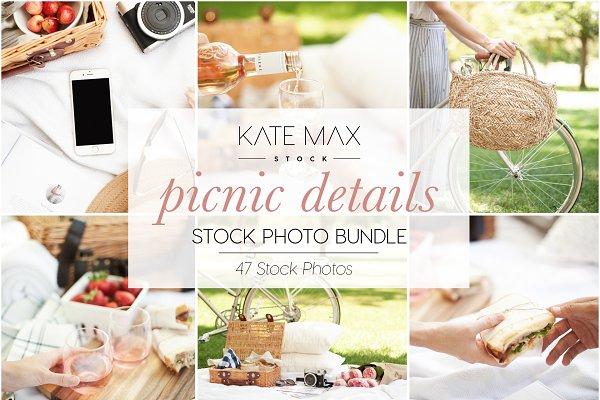 Product Mockups: KateMaxStock - Modern Neutral Picnic Details Bundle