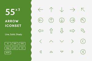 160+ Arrow Iconset