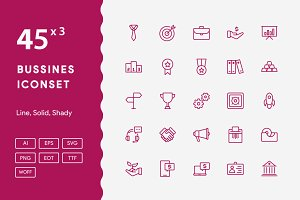 130+ Bussines Iconset