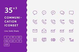 100+ Communication Iconset