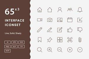 190+ Interface Iconset