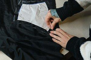 Girl fashion designer draws pattern