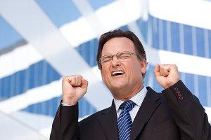 Happy Excited Businessman