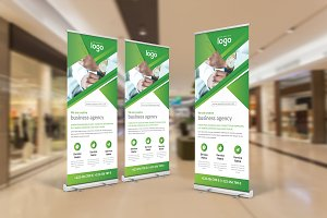 Green Corporate Roll Up Banner