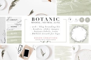 Botanical Website Blog Branding Kit