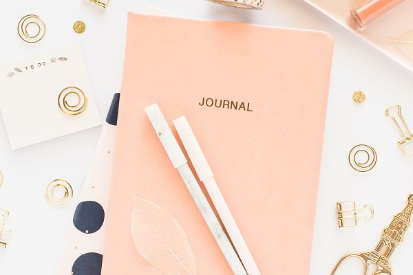 Business Stock Photos: MB Photo & Design - Styled Stock Photo - Journal Flatlay
