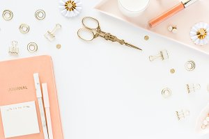 Stock Photo Journal, Peach & Gold