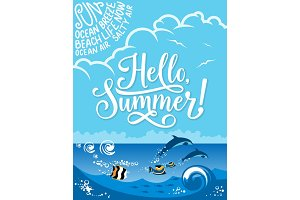 Hello Summer for holiday design