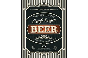 Beer or craft lager label