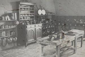 Old castle kitchen photograph