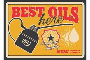 Motor oil grunge retro poster