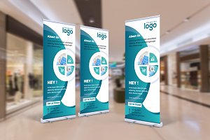 Abstract Roll Up Banner Design