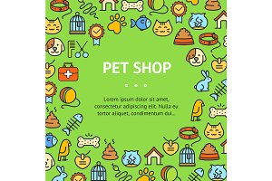 Pet Shop Round Design Template