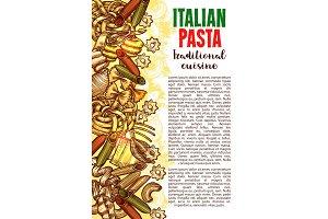 Pasta sketch banner