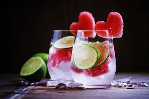 Refreshing drink with watermelon, so