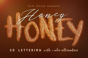 Honey Honey - 3D Lettering