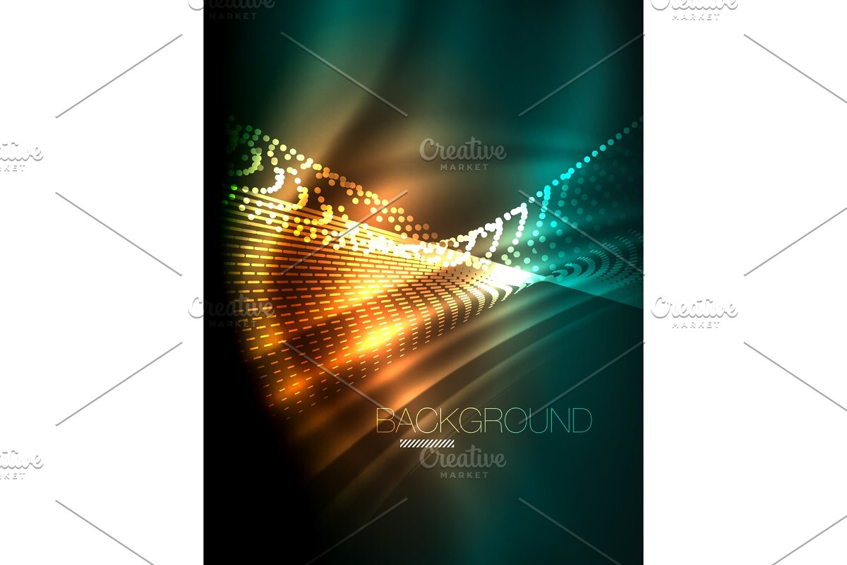 Smooth light effect, straight lines in Illustrations - product preview 8