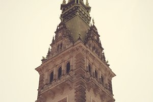Hamburg City Hall Closeup