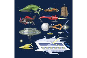 Spaceship vector spacecraft or