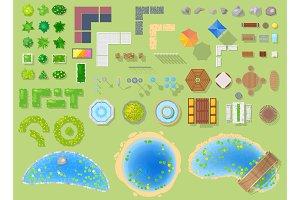 Park vector landscape of parkland