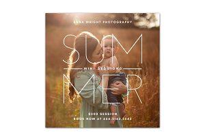 Sumer mini session template