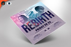 Rebirth Gospel Concert Flyer