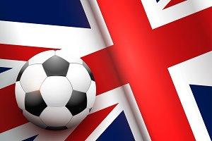 Football ball and British Flag