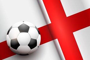 Football ball and England Flag