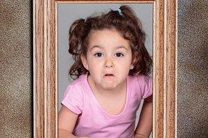 Girl in frame