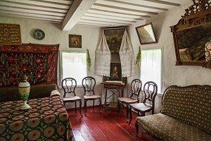interior of the old Ukrainian hut