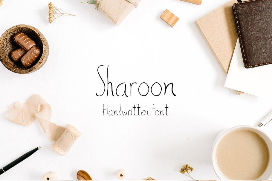 Best Sharoon Handwritten Sans Serif Font Vector