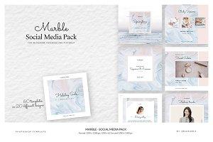 Marble - Social Media Pack