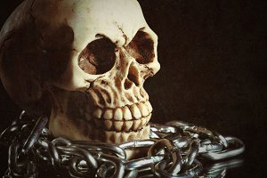 skull and chain