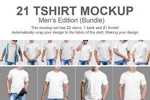 21 Tshirt Mockup Bundle