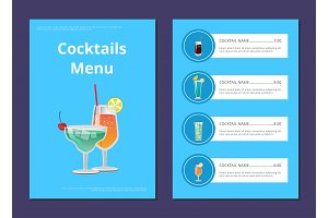 Cocktail Menu Advertisement Poster