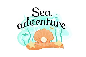 Sea Adventure Poster with Opened