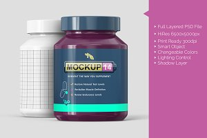 Supplement Pill Bottle Mockup