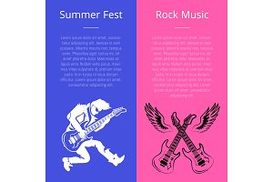 Summer Fest Rock Music Poster with