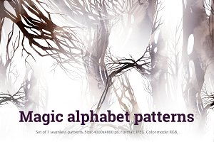 SALE! Magic alphabet patterns | JGEG