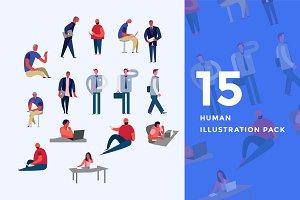 30 Human Illustration Pack