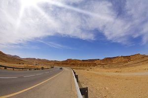 The highway in desert